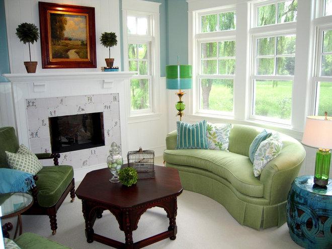 Contemporary Family Room by RLH Studio