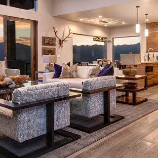 Mountain style family room photo in Salt Lake City
