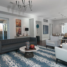 Contemporary Family Room by Southland Homes of Texas