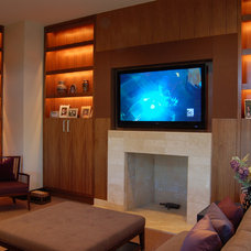 Contemporary Family Room by Clockwork