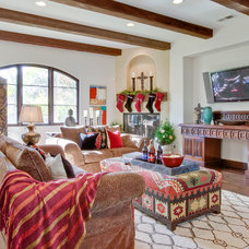 Mediterranean Family Room by Luke Gibson Photography