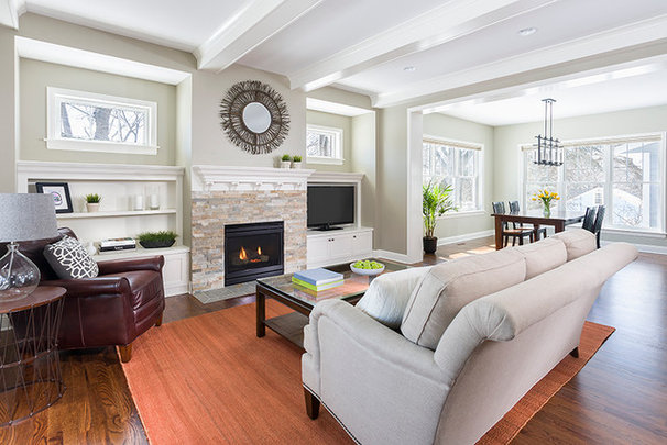 Traditional Family Room by Allison Landers
