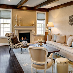mediterranean family room by Semerjian Interiors