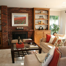 Traditional Family Room by Mary Poulos Interior and Exterior Design