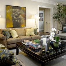 Contemporary Family Room by Stephanie Wohlner Design