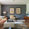 Room of the Day: Geometric Wallpaper Pulls Together Midcentury Style