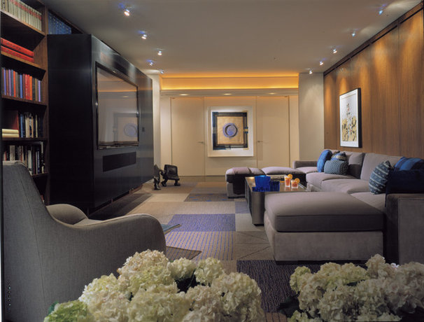 Contemporary Family Room by Powell/Kleinschmidt, Inc.