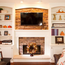 Traditional Family Room by Case Design & Remodeling Indy