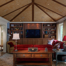 Traditional Family Room by Adams Construction Services, Inc.