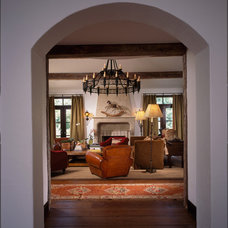 Eclectic Family Room by Moon Bros Inc