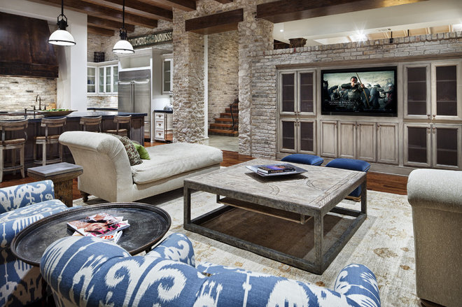 Contemporary Family Room by JAUREGUI Architecture Interiors Construction