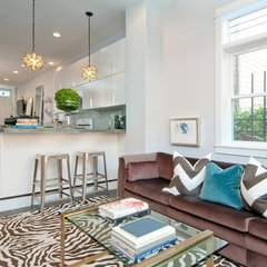 eclectic family room by Michelle Miller Interiors