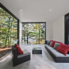 Modern Family Room by Kariouk Associates