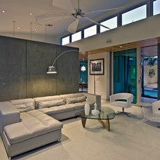 Midcentury Family Room by Balfoort Contracting, Inc