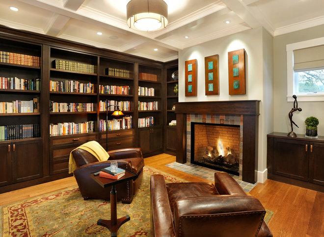 Contemporary Family Room by Sullivan Design Studio