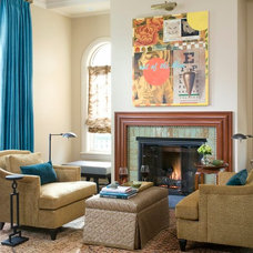 Eclectic Family Room by Designer Premier