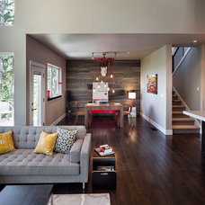 Rustic Family Room by Jordan Iverson Signature Homes