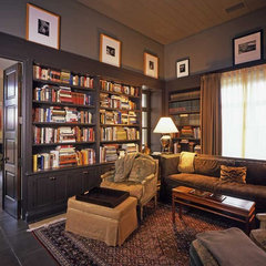 mediterranean family room by JMA (Jim Murphy and Associates)