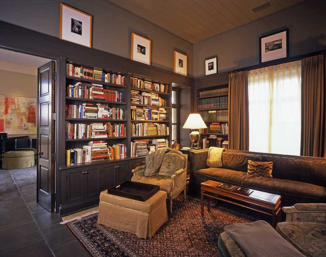 Get ideas for a cozy library space for Den study design ideas