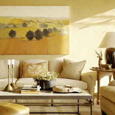 Mediterranean Family Room by Tucker & Marks