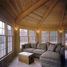 Traditional Family Room by Habitat Post & Beam, Inc.