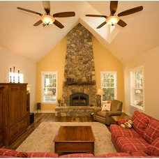 Traditional Family Room by Isaman design, Inc.