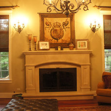 Traditional Family Room by Drapery Connection