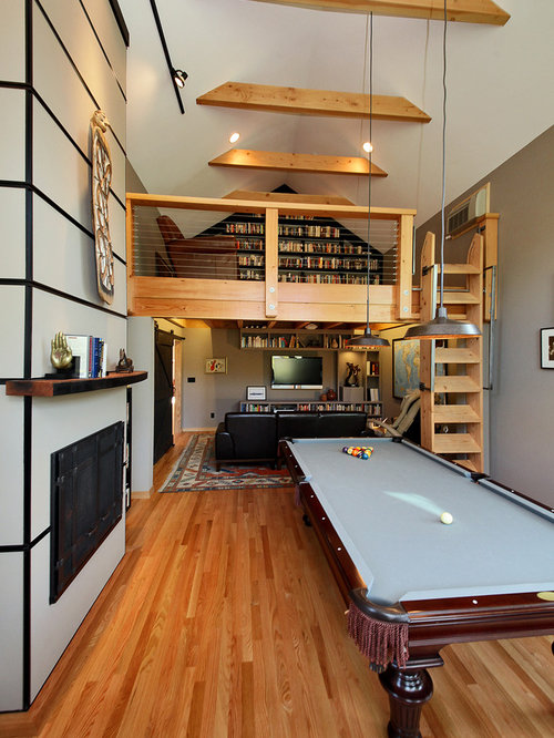 Industrial pool table lights home design ideas pictures - Casa tipo loft ...
