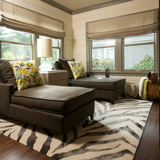 Traditional Family Room by Susan Brunstrum of SWEET PEAS DESIGN INC