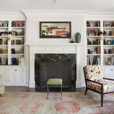 Eclectic Family Room by Tommy Chambers Interiors, Inc.