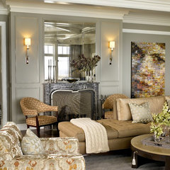 traditional family room by Morgante Wilson Architects