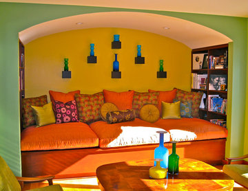 Hoffman Colorful, Contemporary Living Room