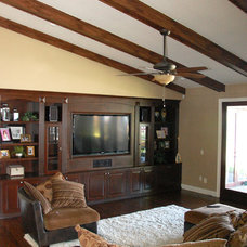 Traditional Family Room by Keesee and Associates, Inc.