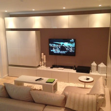 Modern Family Room by Advantage Developer & Constructor