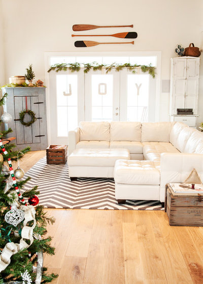 Shabby-chic Style Family & Games Room by Julie Ranee Photography