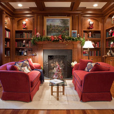 Traditional Family Room by Kelly Cruz Interiors