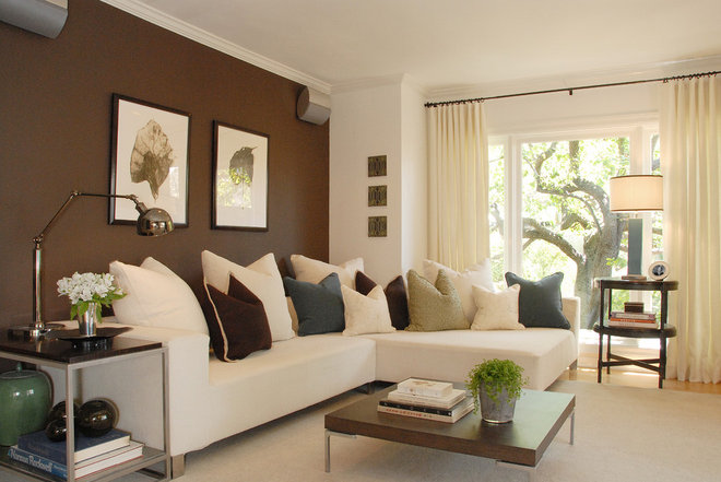 Modern Family Room by Annette English
