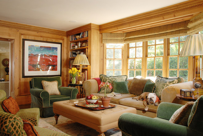 Traditional Family Room by Timothy Corrigan, Inc.