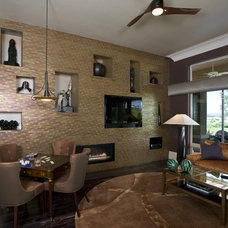 Contemporary Family Room by Peg Berens Interior Design LLC
