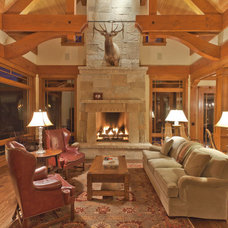 Traditional Family Room by David Johnston Architects