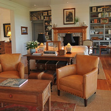 Farmhouse Family Room by Alix Bragg Interior Design