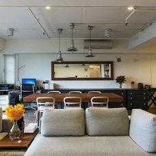 Contemporary Family Room by PMK+designers