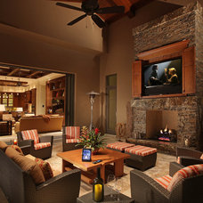 Traditional Family Room by Audio Concepts