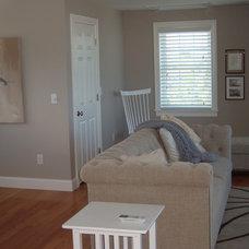 Transitional Family Room by Sandra Alger, CID, Fresh Ideas by Sandy