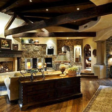 Mediterranean Family Room by Aspect Fine Homes