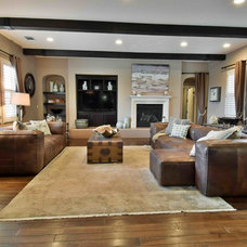 Eclectic Family Room by Cathy Lee, C.L. Design Services Home Staging