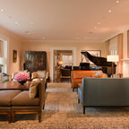 Family Room Midcentury Family Room New York By