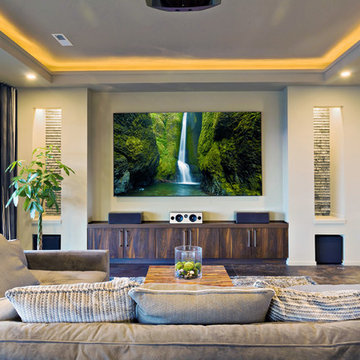 Home Theater Design, Family Room Surround Sound Systems, Dedicated Home Theaters