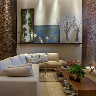 Family room - contemporary family room idea in Other