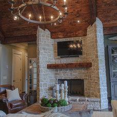 Rustic Family Room by Blalock Homes LLC